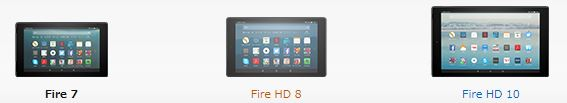 Kindle Fire HD比較